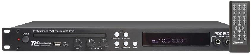 Leitor DVD KARAOKE 19 CD+G e USB MP3 (PDC150) - Power Dynamics