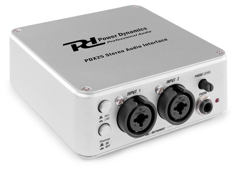 Interface Áudio USB Portátil 2 Canais (PDX25) - Power Dynamics