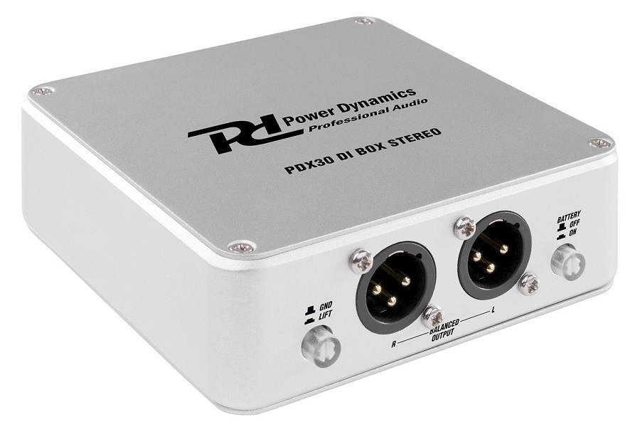 Interface DI Stereo Portátil (PDX30) - Power Dynamics