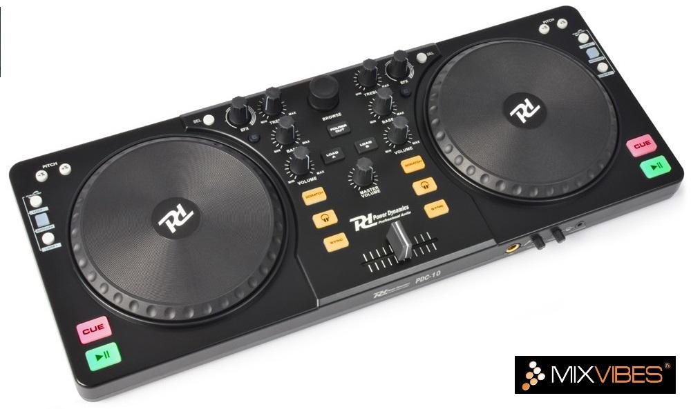 Controlador DJ MIDI USB MixVibes (PDC-10) - Power Dynamics