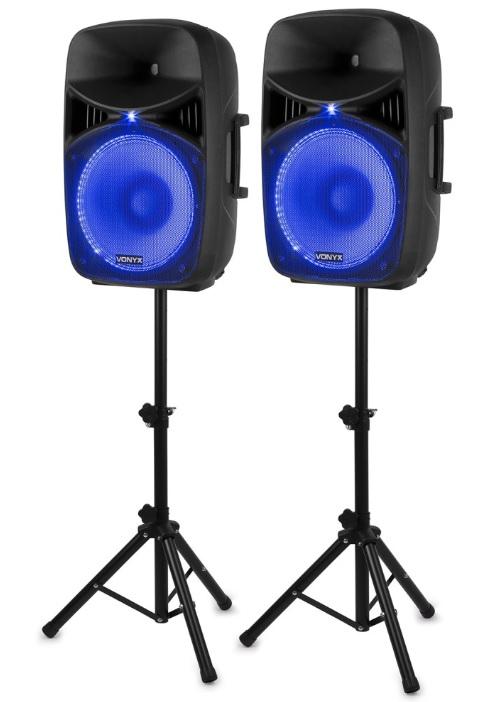 Pack 2x Colunas Amplificadas (com Suportes) 15 1000W (VPS152A) - VONYX