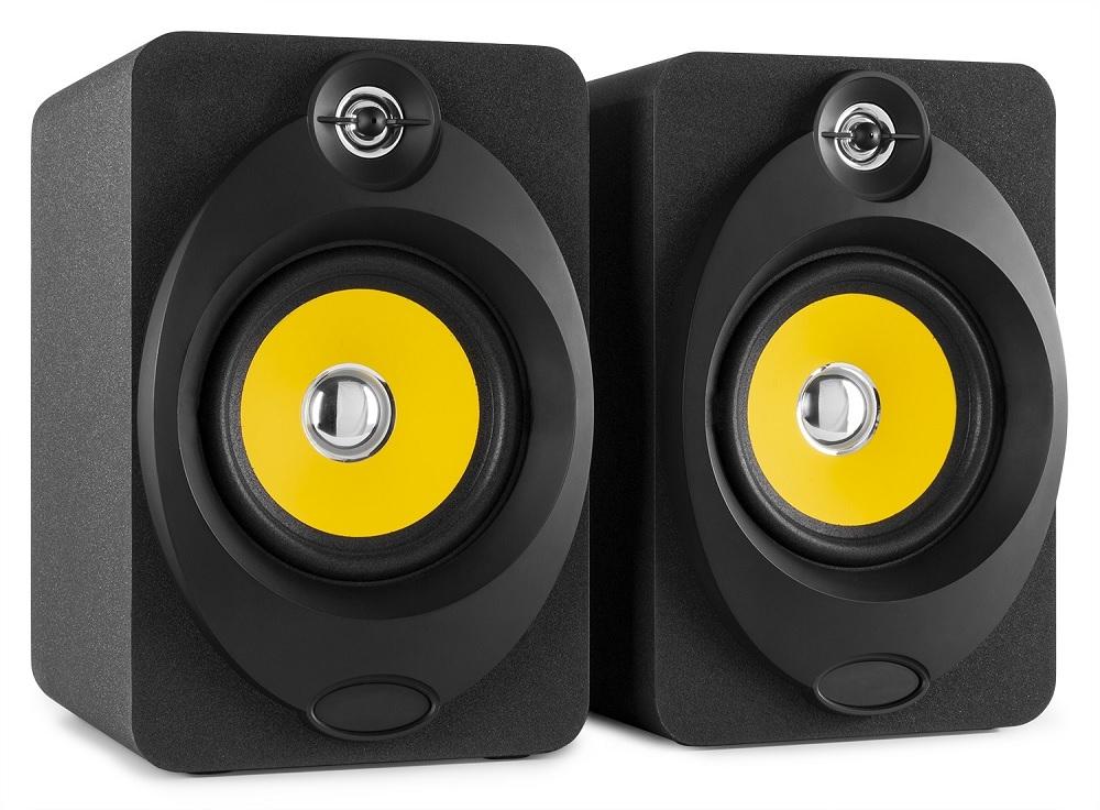 Colunas Monitor Amplificadas Estúdio 2x 50W 5.25 MP3/USB/Bluetooth (XP50) - VONYX