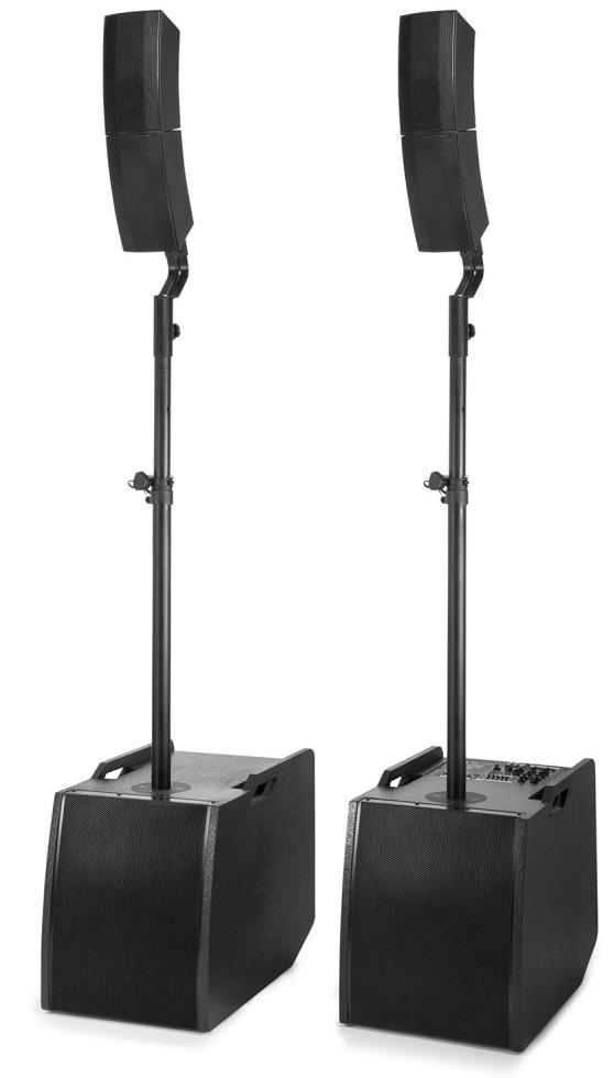 Sistema Som Amplificado (Coluna+Subwoofer) 2x 12 800W MP3/Bluetooth (PD1212) - POWER DYNAMICS