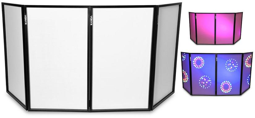 Tela DJ Dobrável c/ 4 Paineis (120 x 70 cm) DB2 - VONYX