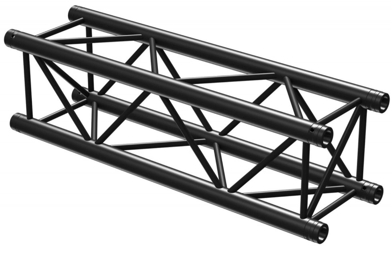 Truss Barra Profissional P30-L100 Preto (1 metro) - beamZ