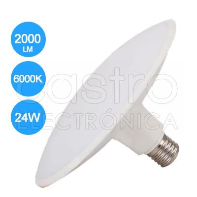 Lampada LED 220V E27 24W Branco F. 6000K 2000Lm - ProFTC