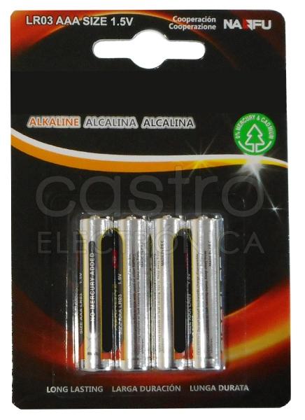 Blister 4 Pilhas Alcalinas 1,5V LR03 AAA - ProFTC