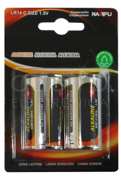 Blister 2 Pilhas Alcalinas 1,5V C / LR14 - ProFTC