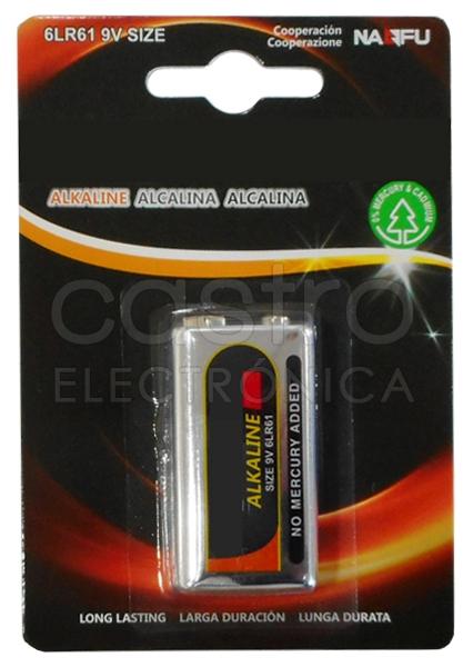 Pilha Alcalina 9V 6LR61 - ProFTC
