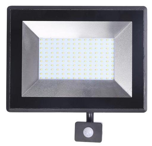 Projector LED IP65 220V Branco F. 6000K 100W c/ Sensor