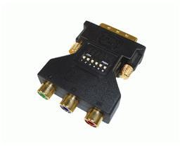 Ficha Adaptadora DVI M. + 3x RCA F. (RGB)