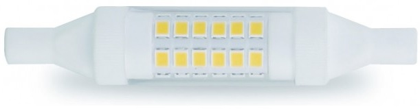 Lampada LED R7S 78mm 360º 6W Branco Q. 3000K 600Lm - GSC