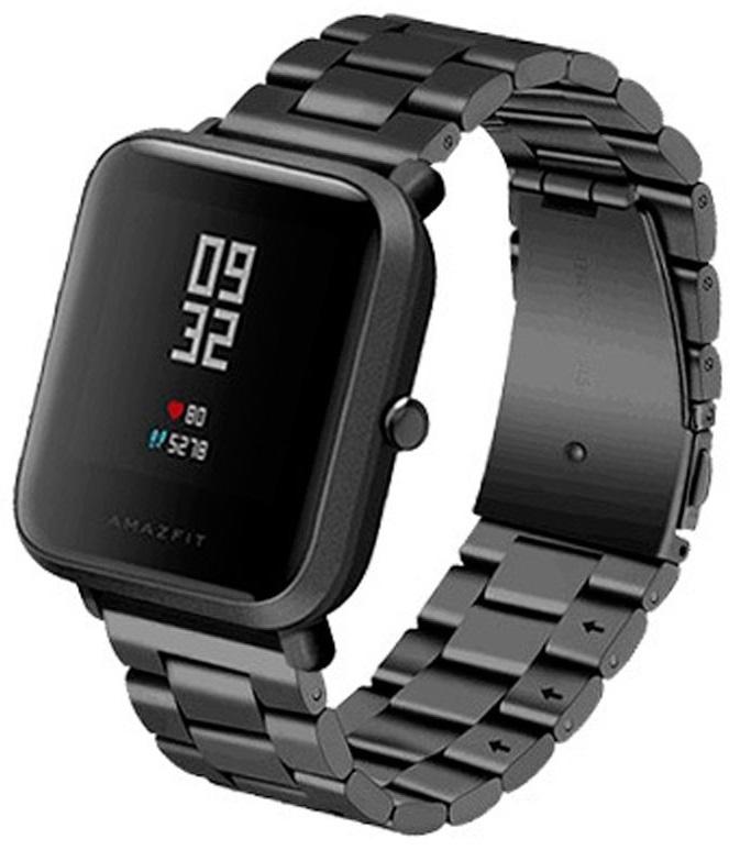 Correia Metálica Elos (Preto) p/ Xiaomi Amazfit GTS/Bip/Bip Lite/GTR 42mm/Ticwatch/Huawei/Samsung/..