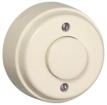Botão de Pressão Luminoso Redondo 10A 250V (Marfim) - EFAPEL