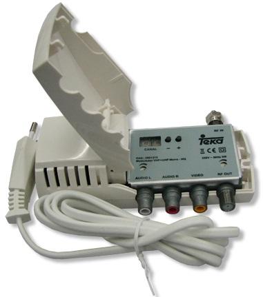 Modulador c/ Display VHF/UHF Stereo HQ - TEKA