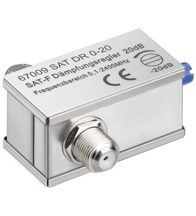 Atenuador Sinal TV 0 ~ 20dB / 0,1-2400 MHz