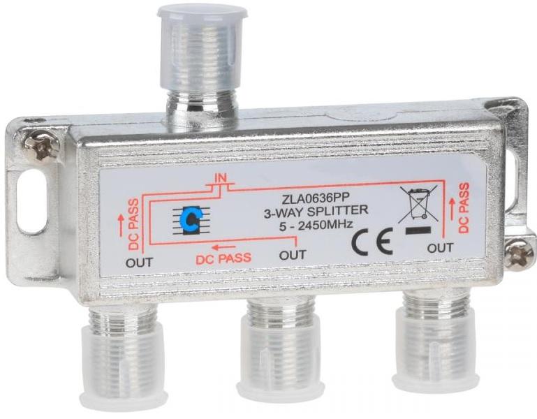 Spliter Derivador 3 Vias 5-2400MHz