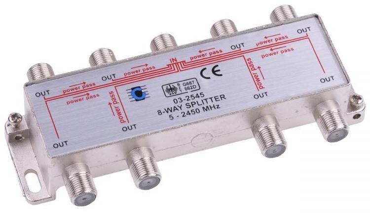Spliter Derivador 8 Vias 5-2450MHz