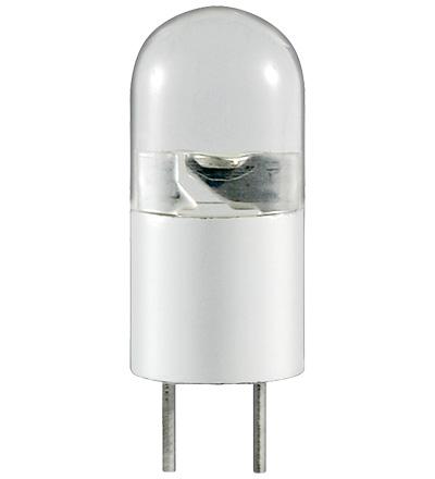 Lampada LED G4B 0,3W = 5W Branco Quente 12V AC/DC - GOOBAY