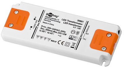 Transformador Corrente Constante p/ LEDs 500mA 0,5~12W