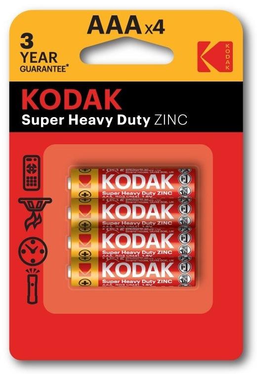 Blister de 4 Pilhas R3 / AAA - KODAK