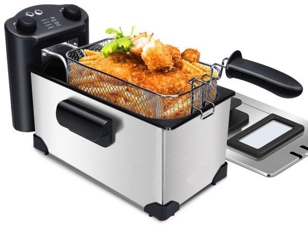 Fritadeira Eléctrica 2200W 3L (Inox)