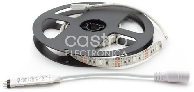 Fita LEDs SMD5050 RGB 5V IP65 (30cm) - ProFTC
