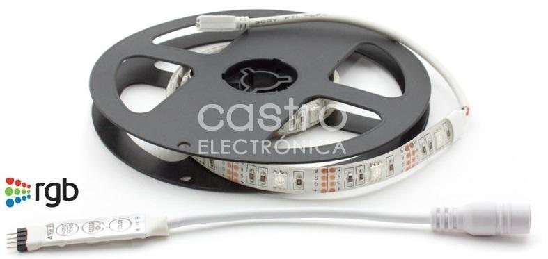 Fita LEDs SMD5050 RGB 5V IP65 (50cm) - ProFTC