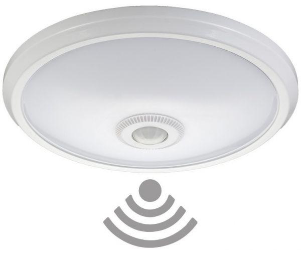 Candeeiro Plafon em LED 20W Branco F. 6000K 1600Lm c/ Sensor Movimento