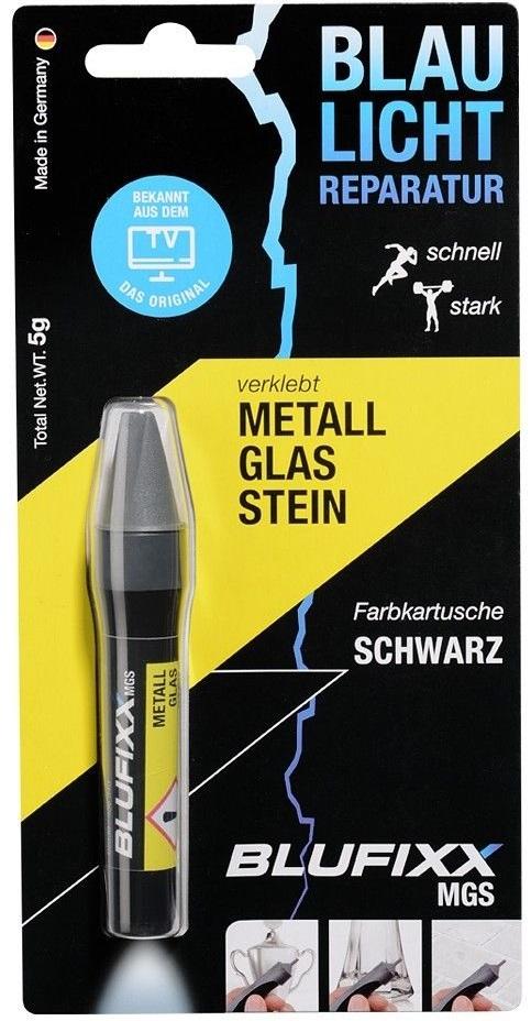 Recarga de Cola Reparadora Metal, Vidro e Pedra (MGS) Preto 5g - BLUFIXX
