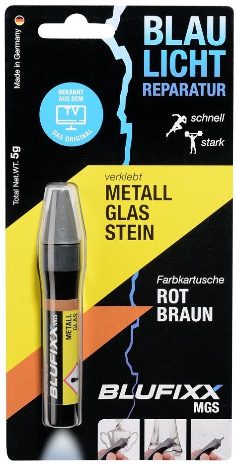 Recarga de Cola Reparadora Metal, Vidro e Pedra (MGS) Castanho-a-Vermelhado 5g - BLUFIXX