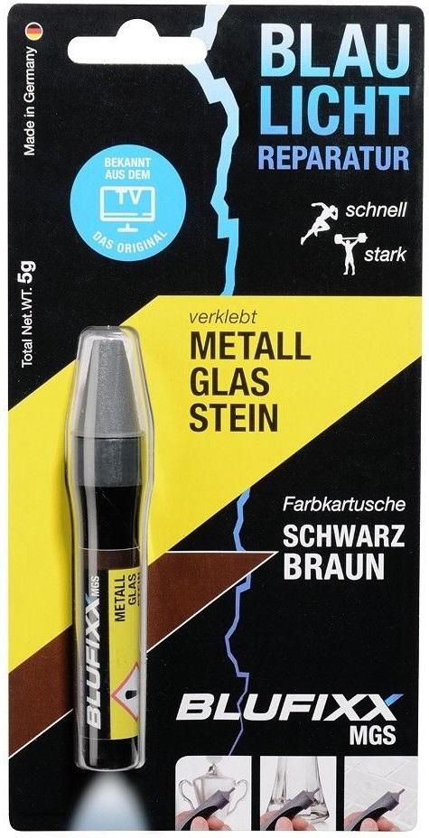 Recarga de Cola Reparadora Metal, Vidro e Pedra (MGS) Castanho Escuro 5g - BLUFIXX