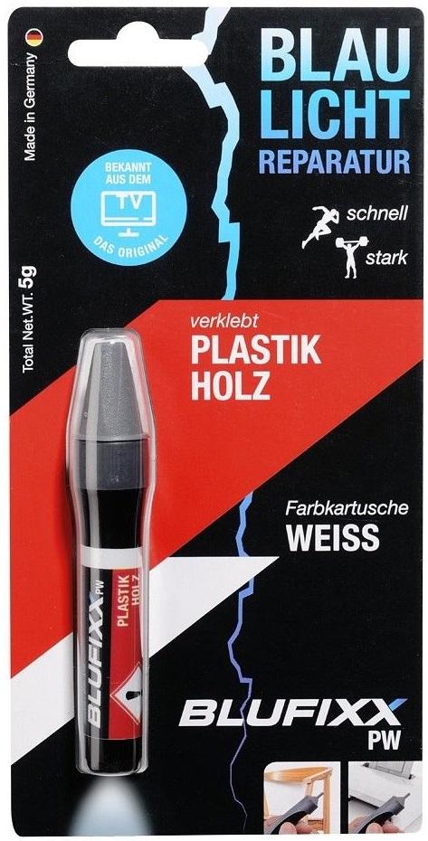 Recarga de Cola Reparadora Plástico e Madeira (PW) Branco 5g - BLUFIXX