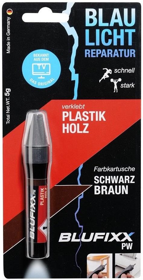 Recarga de Cola Reparadora Plástico e Madeira (PW) Castanho Escuro 5g - BLUFIXX