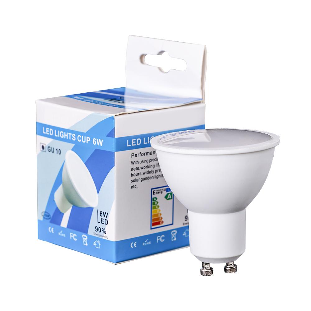 Lampada LED Dimável 220V GU10 6W Branco Q. 3000K 120º