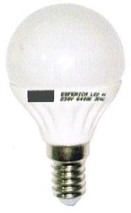 Lampada LED Opalina 220V E14 5W Branco F. 6000K 425Lm