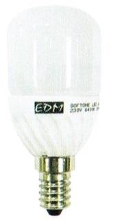 Lampada LED Opalina 220V E14 5W Branco F. 6000K 360º 400Lm - EDM