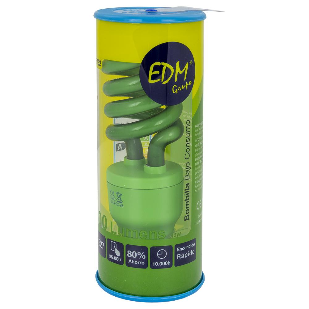 Lampada Economizadora E27 15W 230V Verde - EDM