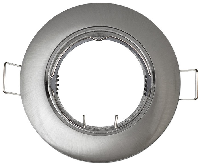 Aro Redondo Ajustável em Aço Escovado p/ Lampadas MR16-GU10 - GSC
