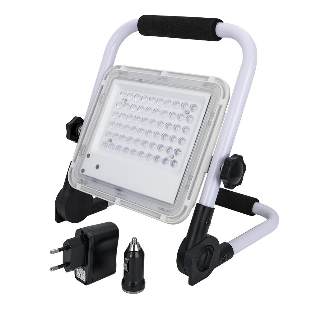 Projector LED 50W Branco 6000K 200~260Lm t/ Obras c/ Função Emergência (Azul/Vermelho) - ProFTC