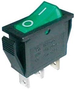 Interruptor Luminoso ON-OFF 250V/15A - Verde