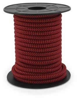 Bobine Cabo Eléctrico Têxtil 2x 0,75mm Vermelho Listado (10 mts) - GSC