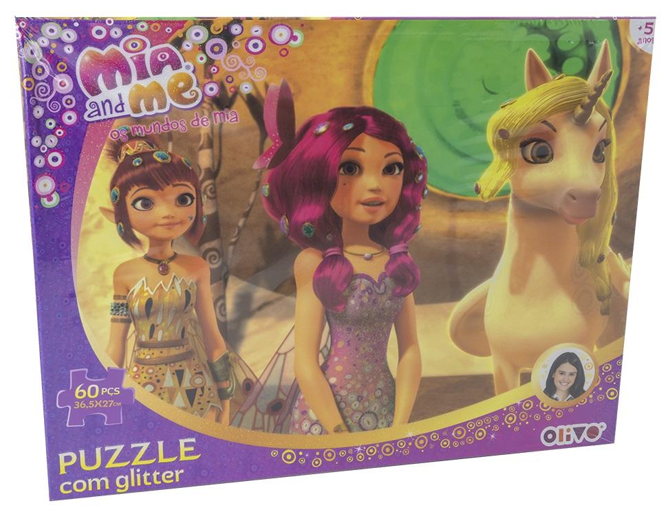 Puzzle Os Mundos de Mia c/ Glitter (60 Peças) - ProFTC