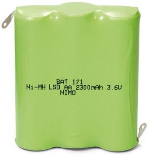Bateria 3,6V 2300mAh 3x AA NI-MH - NIMO