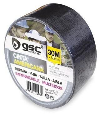 Rolo Fita em Tecido Revestida a Polietileno 50mm 30 mts (Preto) - GSC