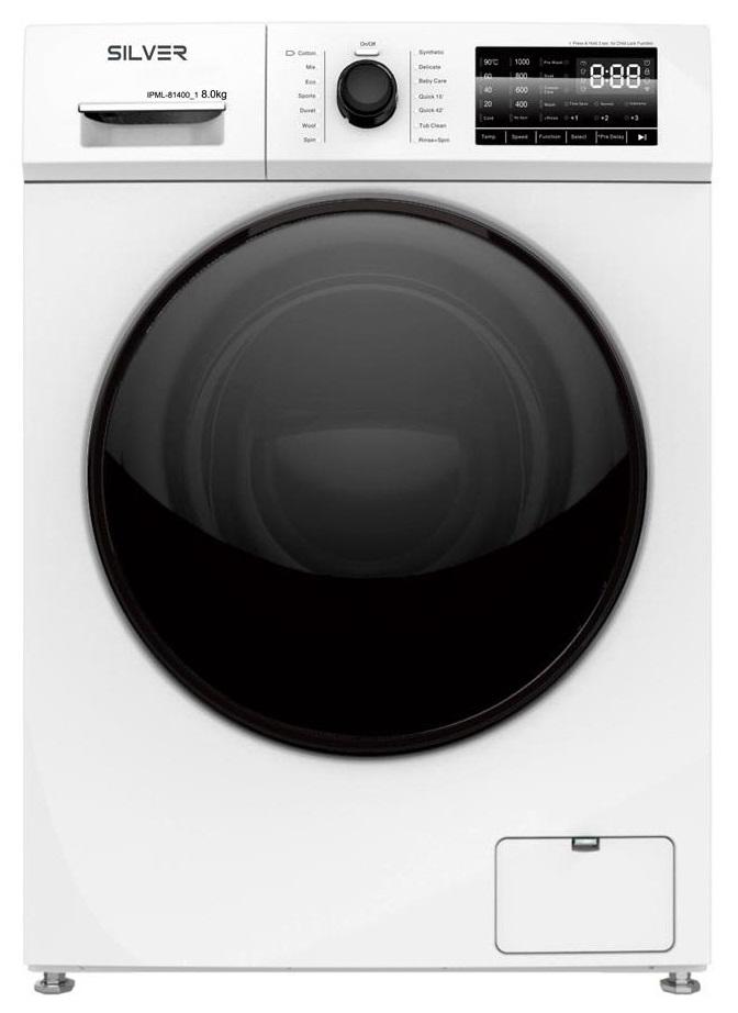 Máquina de Lavar Roupa 8KG A+++ 1400RPM (IPML-81400-1) - SILVER