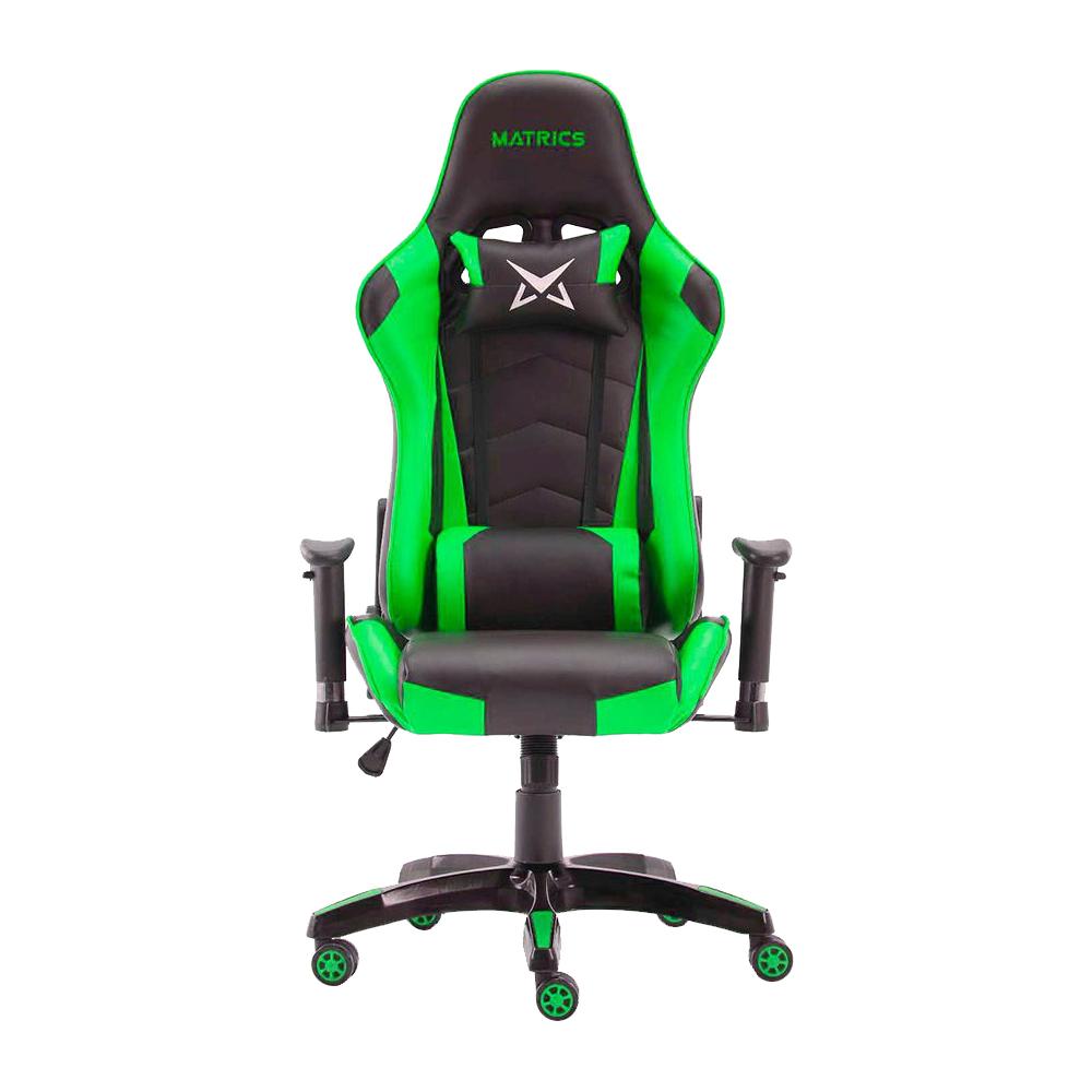 Cadeira Gaming Osiris (Preto/Verde) - MATRICS