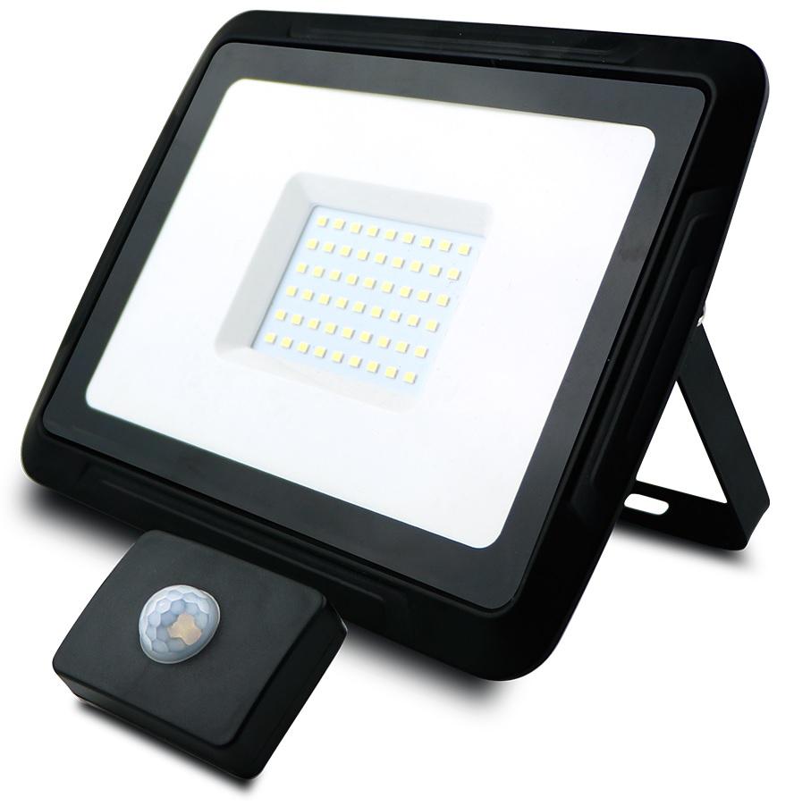 Projector LED IP65 220V Branco 4000K 50W 4000Lm c/ Sensor