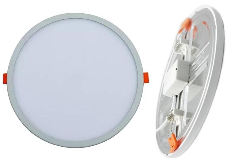 Painel de LED Redondo Ajustável Ø5~21cm 20W 1800Lm 6000K