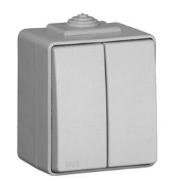 Comutador de Lustre Cinz. 16A 250V Série Estanque48 - EFAPEL